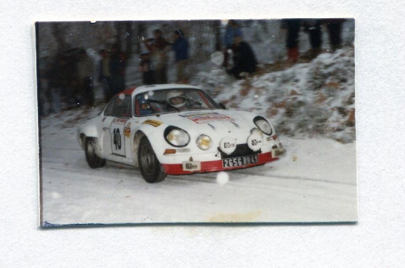 Mes premières autos pour courir...Simca rallye 1100cc, Alpine A110 1600S, A110 1500, A310 Finale86