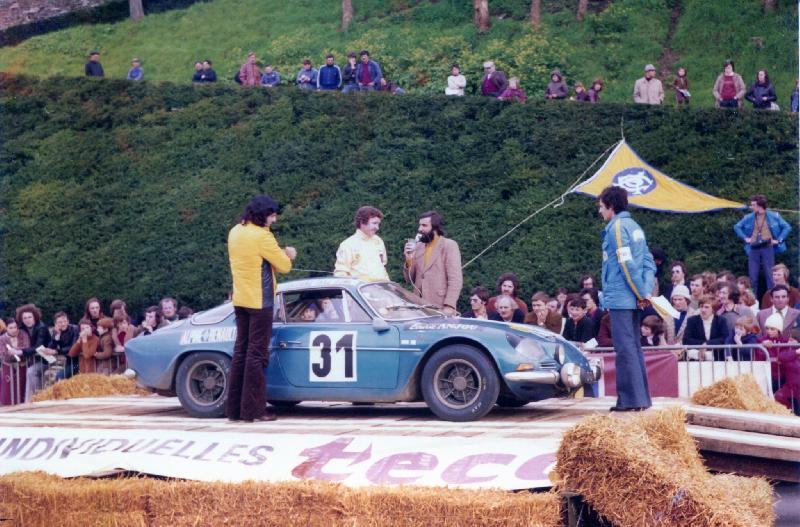 Mes premières autos pour courir...Simca rallye 1100cc, Alpine A110 1600S, A110 1500, A310 Ralyouest01