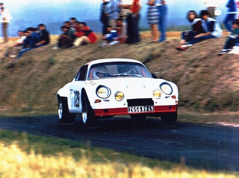 Mes premières autos pour courir...Simca rallye 1100cc, Alpine A110 1600S, A110 1500, A310 Stgenou